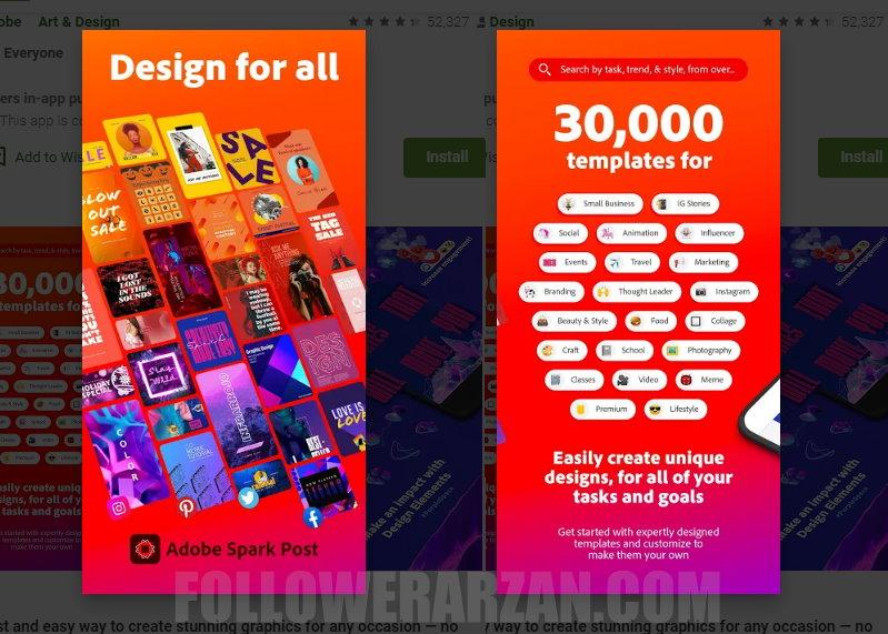 استوری اینستاگرام حرفه ای با برنامه Adobe Spark - فالوور ارزان